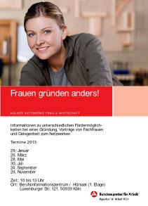 Frauen gründen anders 2013 in Köln